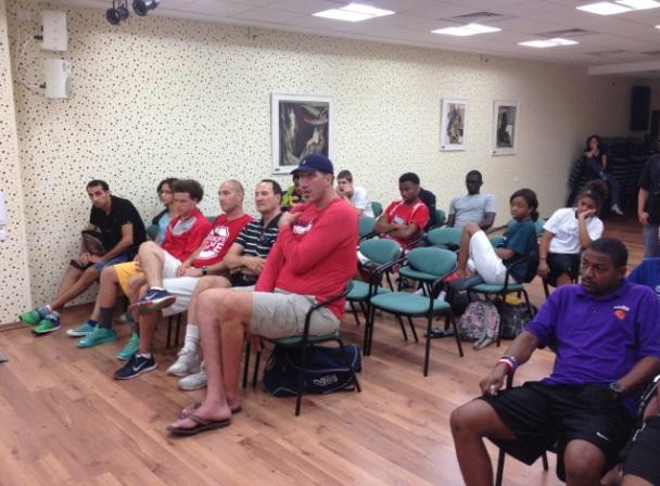 ביקור משלחת ספורטאים צעירים בבית הלוחם תל אביב